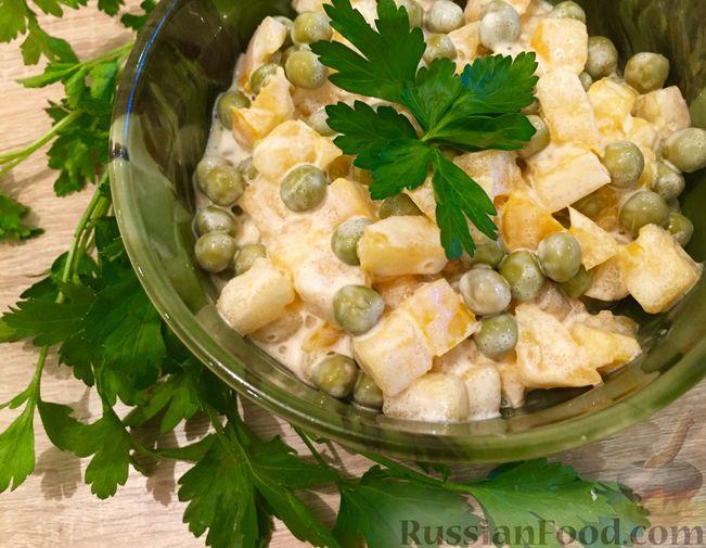 Простые рецепты салатов на скорую руку из зеленого горошка