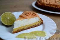 Фото к рецепту: Лаймовый пирог с меренгой
