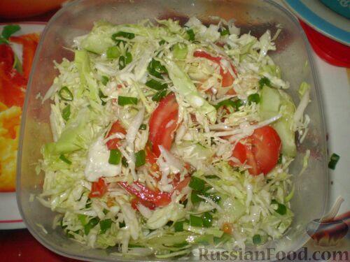 салат из свежей капусты на зиму рецепт с фото