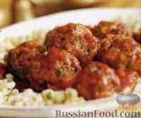 Фото к рецепту: Средиземноморские тефтельки в томатном соусе