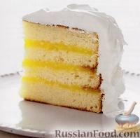 Фото к рецепту: Торт с лимонным кремом и итальянской меренгой