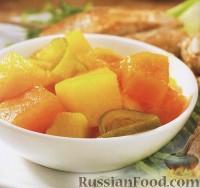 Фото к рецепту: Консервированные фрукты с приправой карри