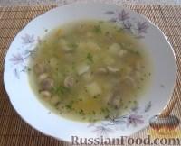 Фото к рецепту: Суп грибной на курином бульоне