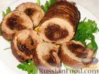 Фото к рецепту: Тушеная телятина с черносливом и имбирем