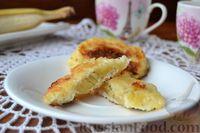 Фото к рецепту: Кокосовые сырники с бананом