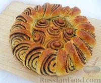 Фото к рецепту: Красивый маковый пирог