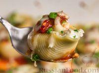 Фото к рецепту: Фаршированные макароны-ракушки с рыбой