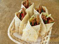 Фото к рецепту: Конвертики с мясом и острой картошкой
