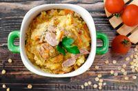 Пшеничная каша со свининой и овощами - рецепт пошаговый с фото