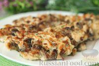 Фото к рецепту: Рубленые куриные котлеты с грибами и зеленым луком