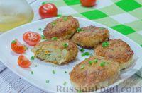 Фото к рецепту: Рыбные котлеты с овощами