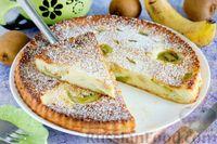 Фото к рецепту: Творожная запеканка с бананом и киви