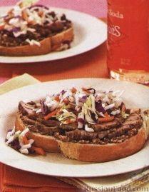 Рецепт Бутерброд с мясом и салатом