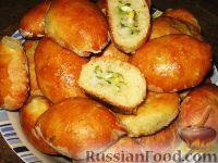 пирожки на сухих дрожжах в духовке рецепт с фото