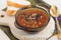 Фото к рецепту: Томатный суп с перловкой и черносливом