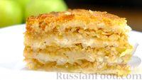 """Фото приготовления рецепта: Насыпной яблочный пирог """"Три стакана"""" - шаг №14"""