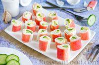 Фото к рецепту: Фаршированные крабовые палочки