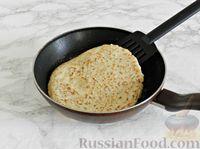Фото приготовления рецепта: Куриные блины с грибным соусом - шаг №8