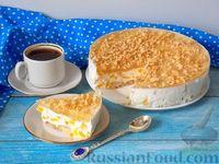Фото к рецепту: Йогуртовый торт с персиками