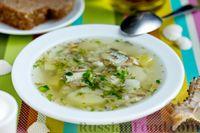 Фото к рецепту: Суп с мойвой, картофелем и рисом