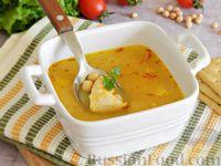 Фото к рецепту: Суп с курицей, нутом и шафраном