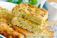 Фото к рецепту: Пирог из лаваша с сыром, брынзой и зеленью