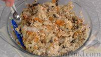 Фото приготовления рецепта: Постные котлеты из овсяных хлопьев с грибами - шаг №9