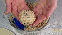 Фото приготовления рецепта: Постные котлеты из овсяных хлопьев с грибами - шаг №10