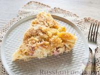 Фото к рецепту: Запеканка из макарон с сыром, ветчиной и соусом бешамель