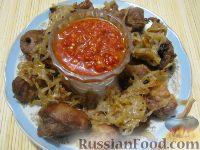 Фото к рецепту: Шашлык из свинины в духовке