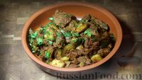 Фото приготовления рецепта: Азу по-татарски, с солёными огурцами - шаг №14