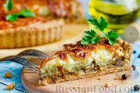 Фото к рецепту: Пирог с печенью, картофелем и сыром