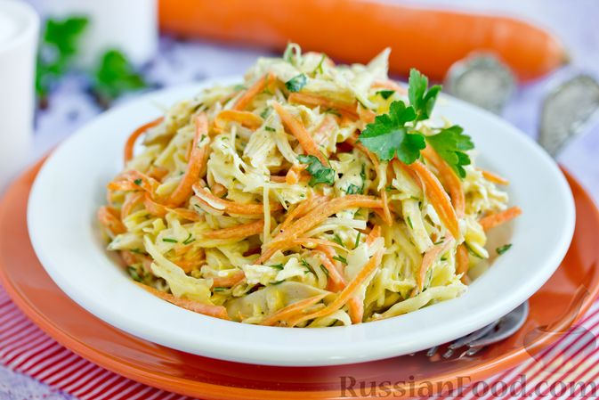салат из капусты и корейской моркови рецепт