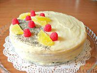 Фото к рецепту: Маковый торт с заварным кремом