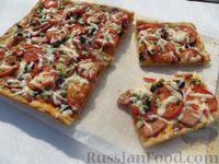 Фото к рецепту: Домашняя пицца на дрожжевом тесте