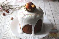 Фото к рецепту: Ореховый кулич на варёной сгущёнке