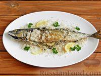 Фото к рецепту: Скумбрия, запечённая в соли