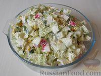 Салат из пекинской капусты с редисом и огурцом - рецепт пошаговый с фото