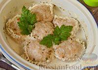 Фото к рецепту: Куриные тефтели в молочно-сметанном соусе