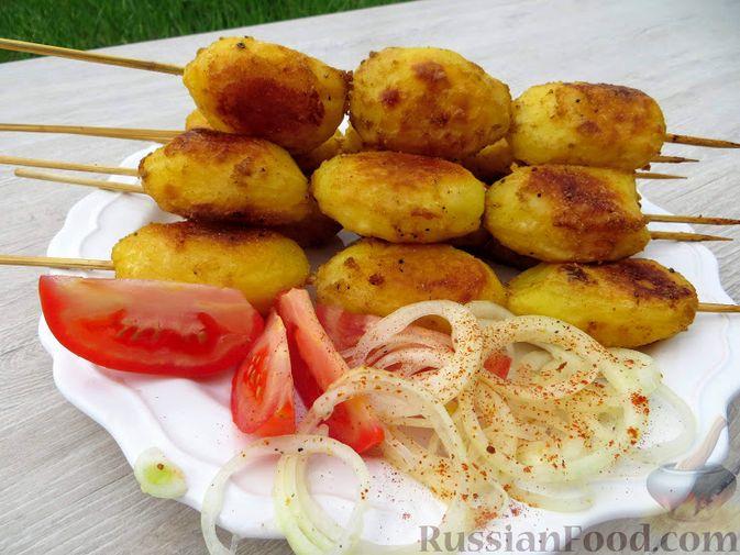 Картофель в духовке к шашлыку