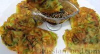 Фото к рецепту: Кабачковые оладьи в корейском стиле