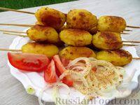 Фото к рецепту: Шашлык из картофеля в духовке