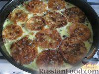 Фото к рецепту: Сырники под сливочным соусом