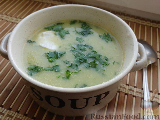 суп пюре из кабачка и цветной капусты