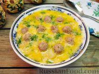 Фото к рецепту: Сырный суп с фрикадельками, картофелем и вермишелью