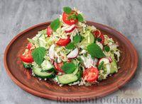 Фото к рецепту: Овощной салат с мелиссой