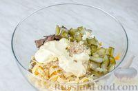 Печеночный салат с яичным блинчиком - рецепт пошаговый с фото