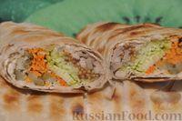 Шаурма из курицы в лаваше на мангале - рецепт пошаговый с фото