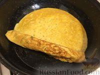 Омлет с сыром и зеленым луком - рецепт пошаговый с фото