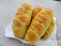 Фото к рецепту: Бабушкины булочки-пирожки с фаршем и картофельным пюре (в духовке)